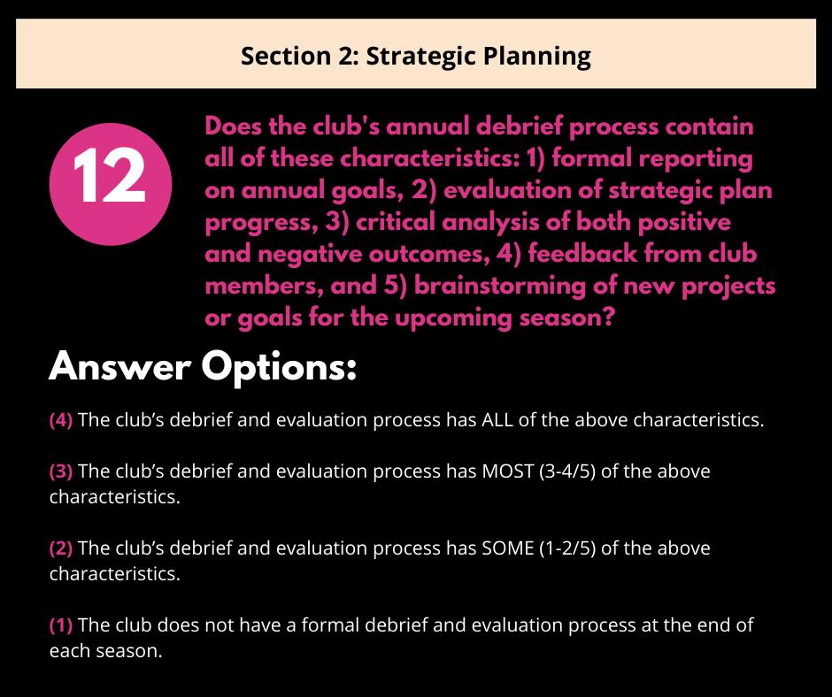 S2 Q5 Debrief & Evaluation