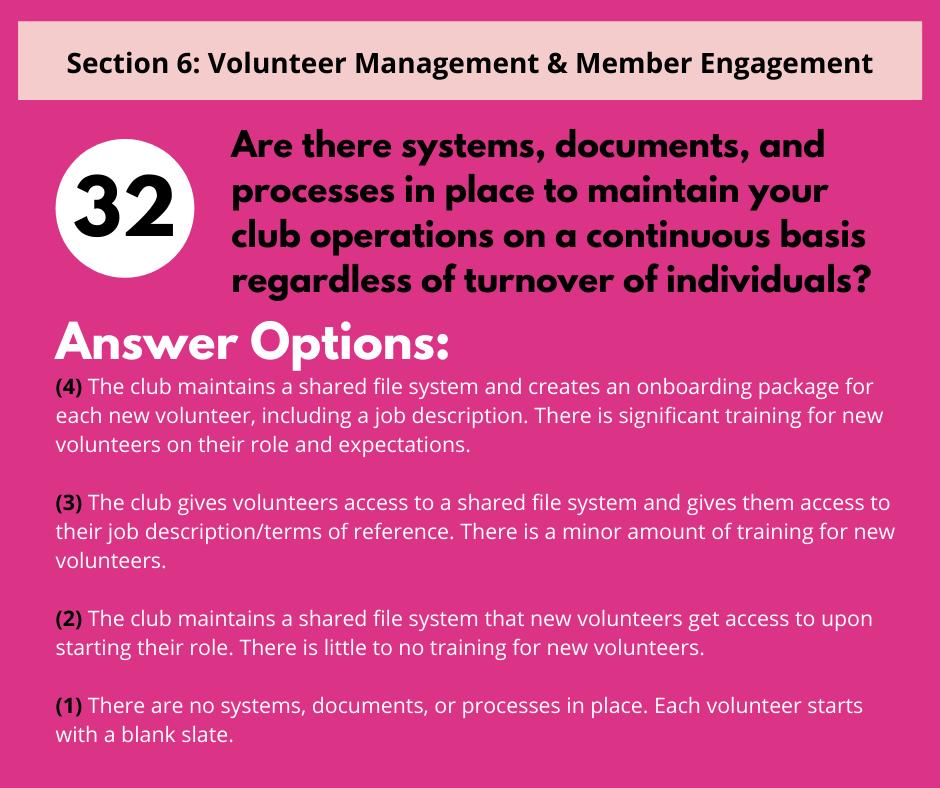 S6 Q4 Volunteer Continuity & Onboarding